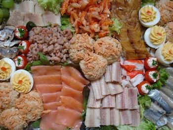 Partyplateau met vis